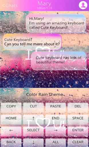 COLOR RAIN Emoji Keyboard Skin 1