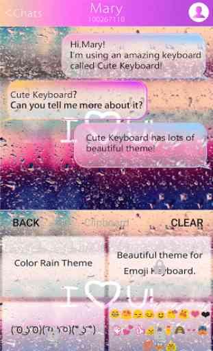 COLOR RAIN Emoji Keyboard Skin 2