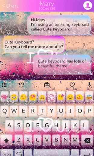 COLOR RAIN Emoji Keyboard Skin 3