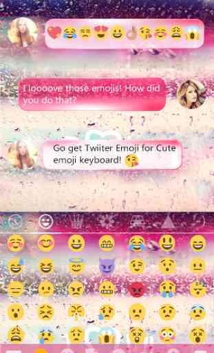 COLOR RAIN Emoji Keyboard Skin 4