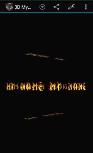 3D My Name Live Wallpaper 1
