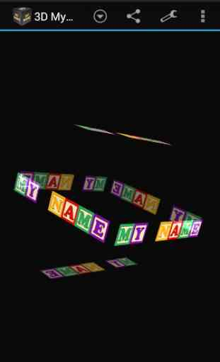 3D My Name Live Wallpaper 2