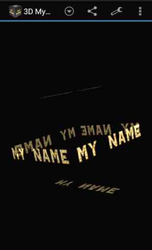 3D My Name Live Wallpaper 3