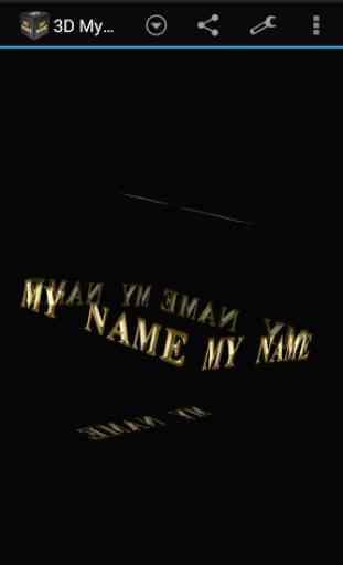 3D My Name Live Wallpaper 4