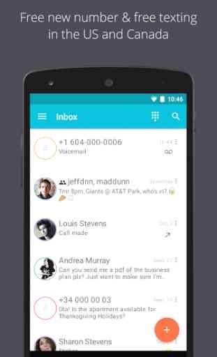 TextMe Up Free Calling & Texts 1
