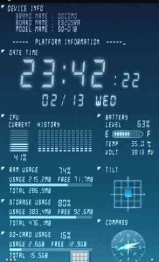 Device Info Live WallPaper 2