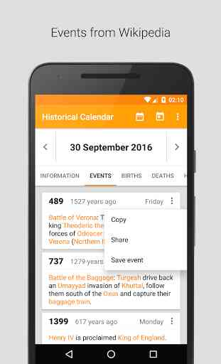 Historical Calendar (Android) image 3