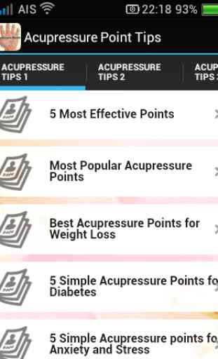 Acupressure Points Tips 1