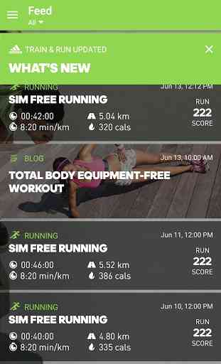 adidas train & run 2