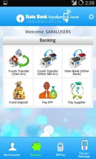 State Bank Anywhere Saral 3
