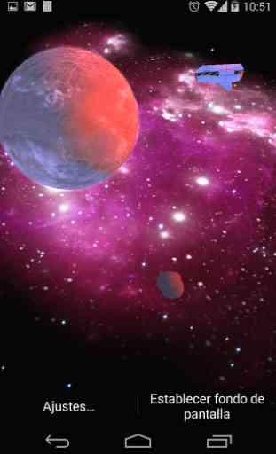 3D Galaxy Live Wallpaper 3