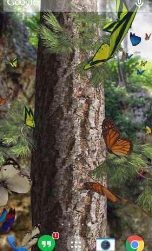 Butterflies 3D live wallpaper 1