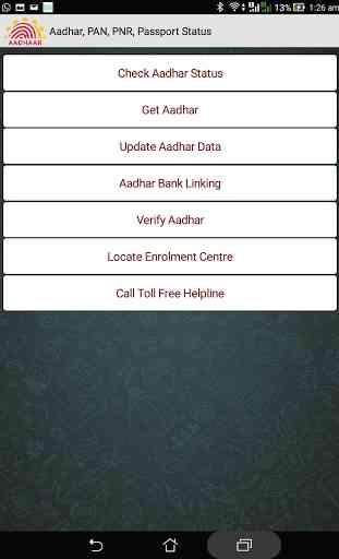 Aadhar, PAN, PNR, Passport 2