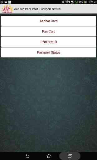 Aadhar, PAN, PNR, Passport 3