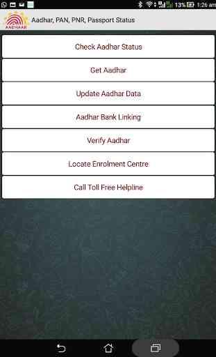 Aadhar, PAN, PNR, Passport 4