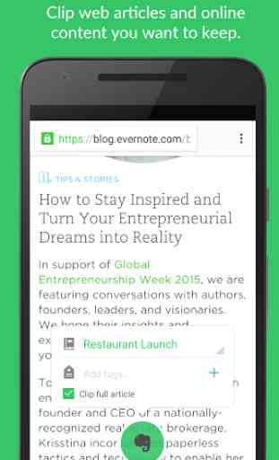 Evernote - stay organized. 2