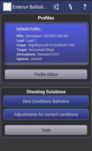 Exterior Ballistics Calculator 1