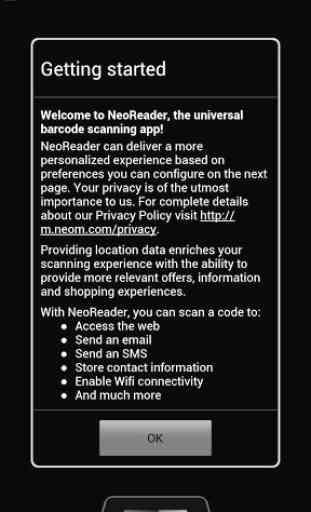 NeoReader QR & Barcode Scanner 1
