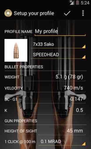 Sako Ballistics Calculator 2