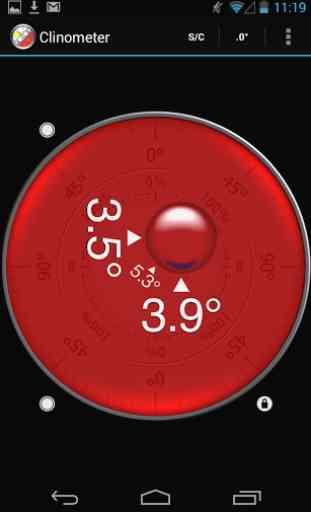 Clinometer + bubble level 3
