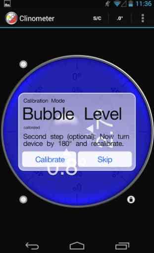 Clinometer + bubble level 4