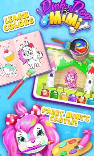 Pink Dog Mimi - My Virtual Pet 1