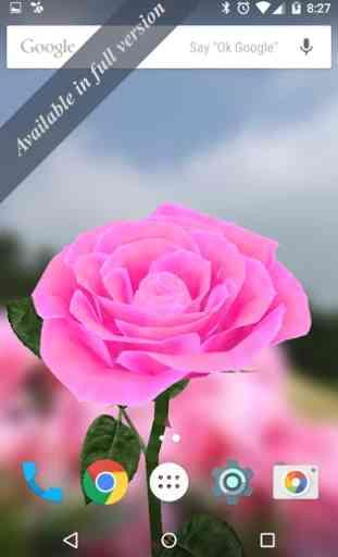 3D Rose Live Wallpaper Free 2