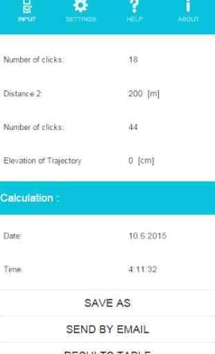 Meopta Ballistic Calculator 3
