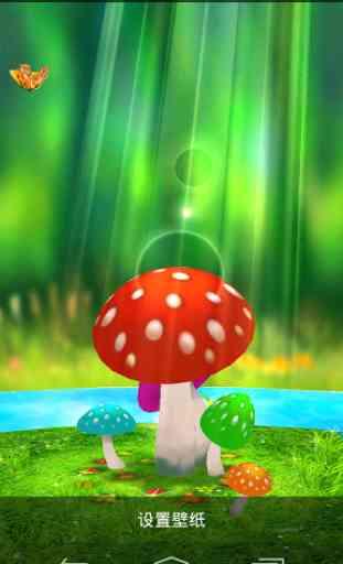 Mushrooms 3D Live Wallpaper 1