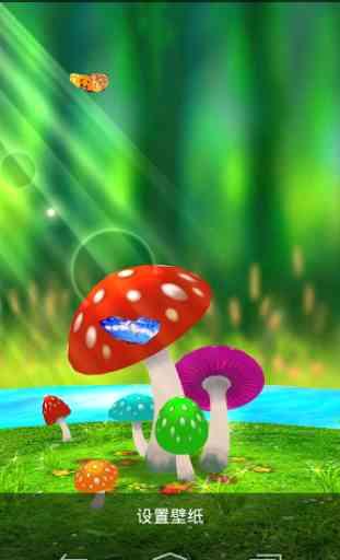 Mushrooms 3D Live Wallpaper 2