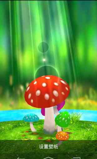 Mushrooms 3D Live Wallpaper 3