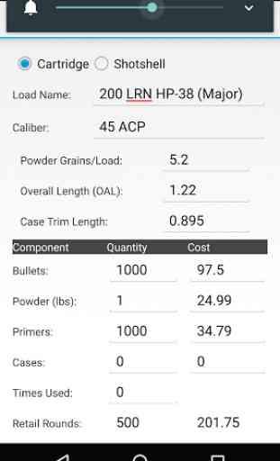 Reloading Calculator - Ammo 1