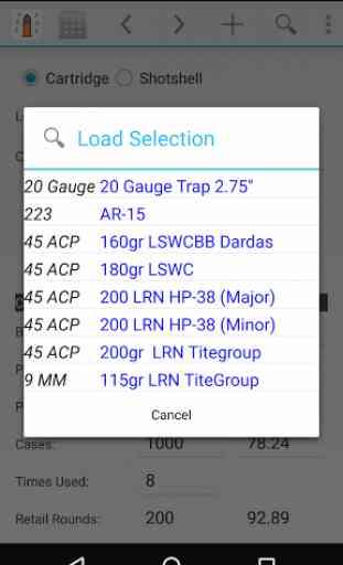 Reloading Calculator - Ammo 3