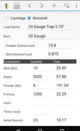 Reloading Calculator - Ammo 4