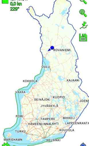 Mapitare Road Map Finland 1