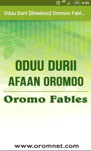 Oduu Durii Oromoo Fables 3