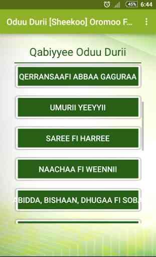 Oduu Durii Oromoo Fables 4