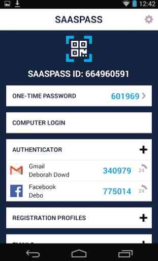 SAASPASS | Authenticator 2FA 1