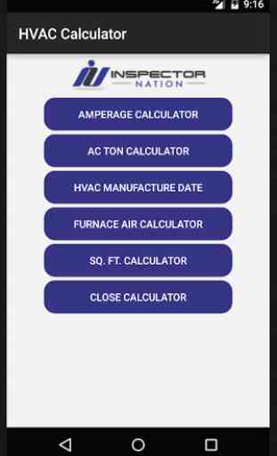 Inspection HVAC Calculator 1