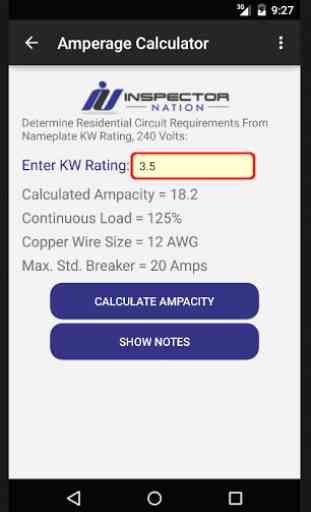 Inspection HVAC Calculator 2