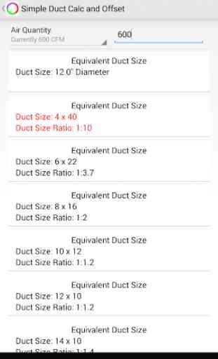 Simple Duct Calculator Deluxe 4