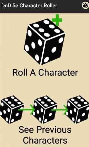 Character Roller - DnD 5e 1