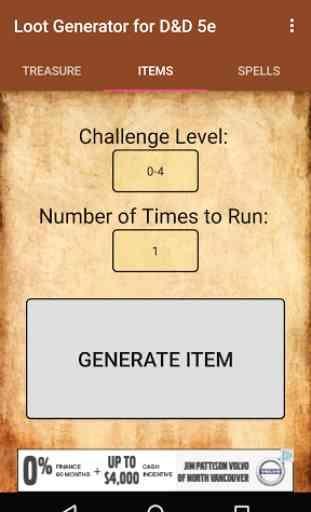 Loot Generator (for D&D 5e) 4
