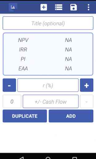 NPV IRR Calculator 1
