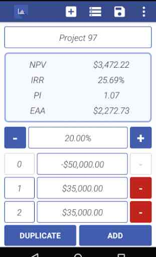NPV IRR Calculator 2
