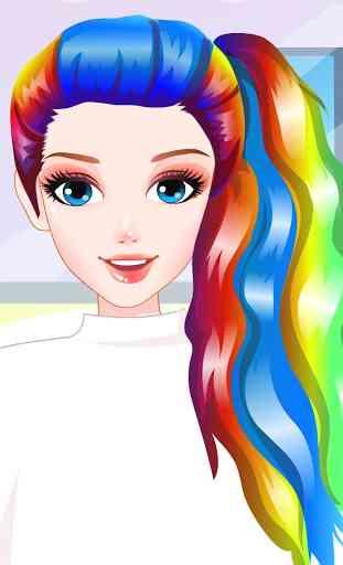 Rainbow Hair Style Hairdresser 1