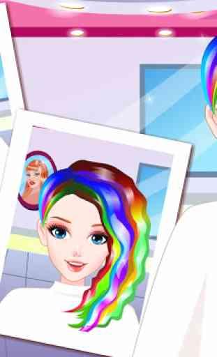 Rainbow Hair Style Hairdresser 3