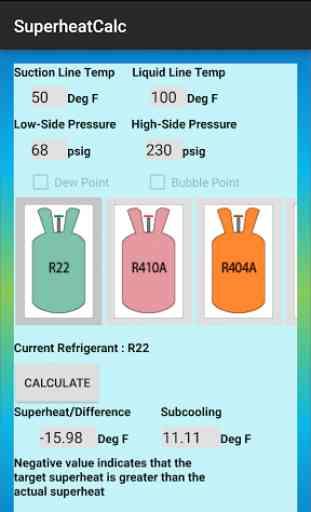 HVAC Superheat Calculator 3