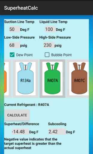 HVAC Superheat Calculator 4