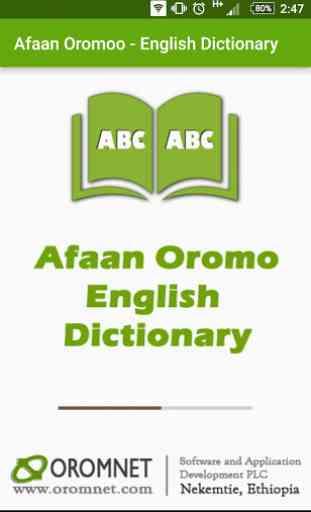 Afaan Oromo English Dictionary 1